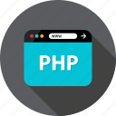 back, browser, development, end, language, php, web icon