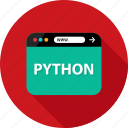 browser, development, language, program, python, script, web icon