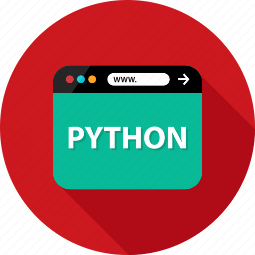 browser, development, language, program, python, script, web icon