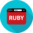 browser, development, language, program, ruby, web icon