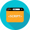 browser, development, language, program, script, web, write icon