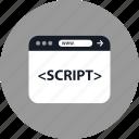 browser, coding, development, online, script, web, www icon
