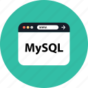 development, mysql, seo, web icon