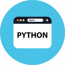 development, python, seo, web icon