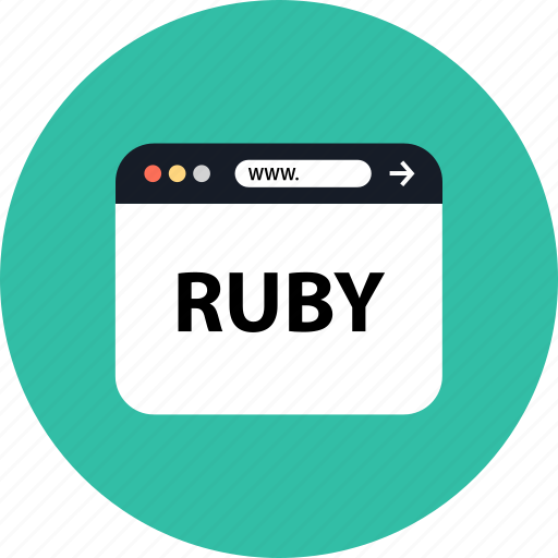 development, ruby, seo, web icon