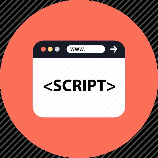 development, script, seo, web icon