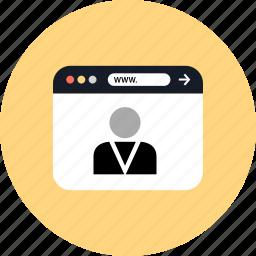 boss, development, seo, user, web icon