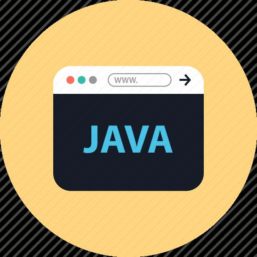 Browser, coding, development, java, online, web, www icon - Download on Iconfinder