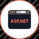 aspnet, browser, coding, development, online, web, www icon