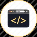 bracket, browser, coding, development, online, web, www