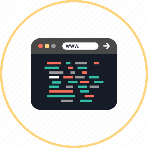 Browser, coding, development, lines, online, web, www icon - Download on Iconfinder