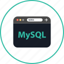 browser, coding, development, mysql, online, web, www icon