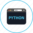 browser, coding, development, online, python, web, www icon
