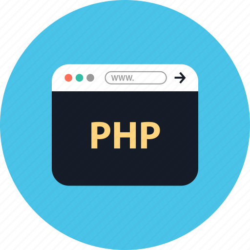 browser, coding, development, online, php, web, www icon