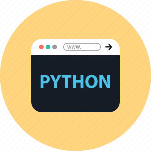 browser, coding, development, online, python, web, www icon