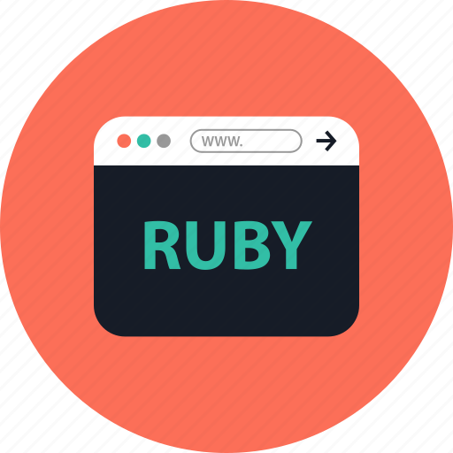 browser, coding, development, online, ruby, web, www icon