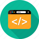 browser, code, coding, development, language, script, web icon