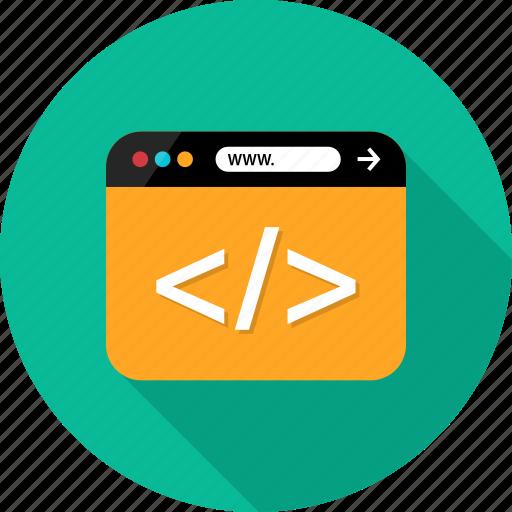 browser, code, coding, development, language, script, web icon