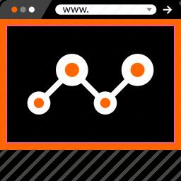 analytics, internet, online, web, www icon
