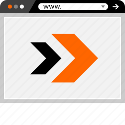 arrows, double, go, internet, online, web icon