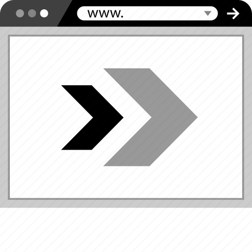 arrows, browser, double, forward, go, right icon