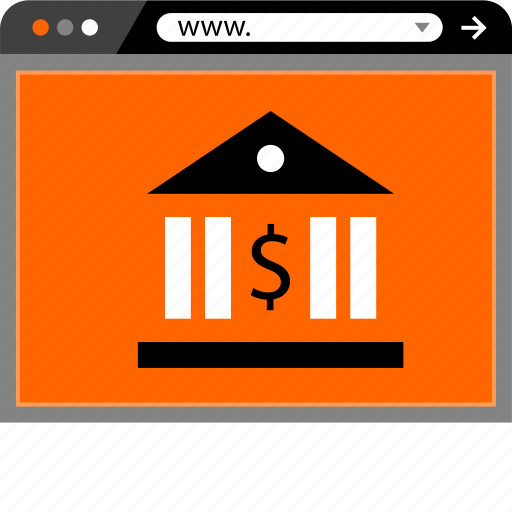 bank, banking, dollar, internet, online, web icon