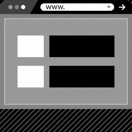 Browser, internet, mockup, online, web, www icon - Download on Iconfinder