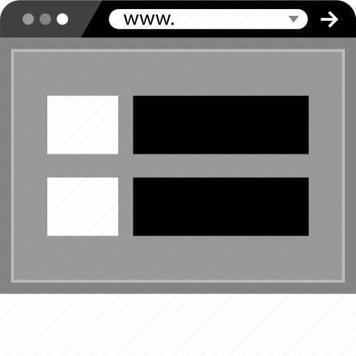 browser, internet, mockup, online, web, www icon