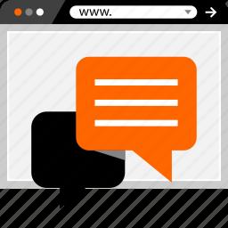 bubble, chat, conversation, internet, online, web icon