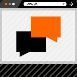 chat, conversation, internet, online, talk, web icon