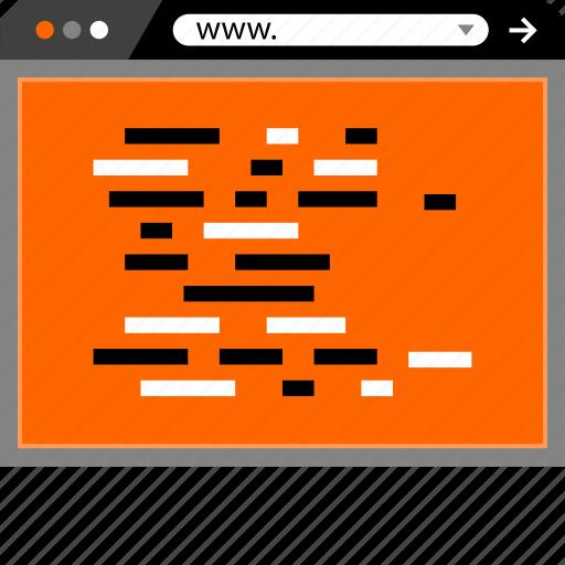 coding, development, internet, online, web icon