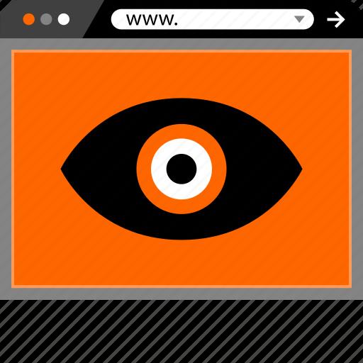eye, internet, look, online, search, web icon