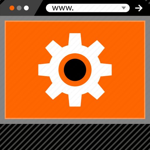 gear, internet, online, options, web, website icon