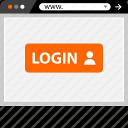 internet, login, online, profile, user, web icon