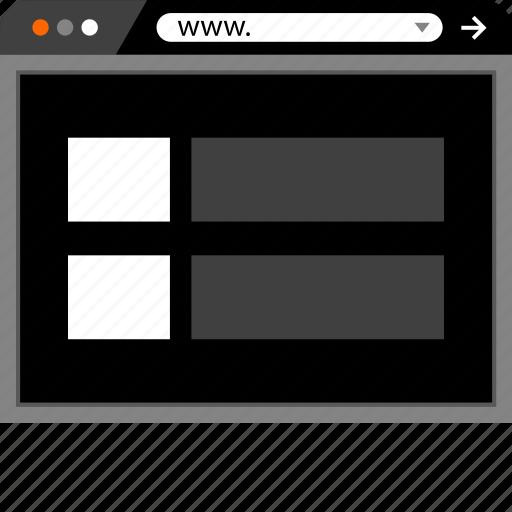 internet, mockup, online, site, web, website icon