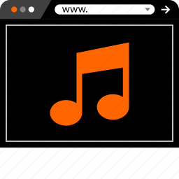 internet, music, now, online, play, web icon