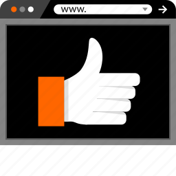 good, internet, ok, online, thumbs, up, web icon