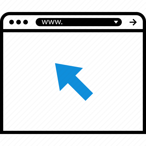 arrow, click, internet, visitus icon