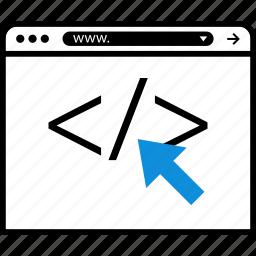click, development, online, seo, web icon