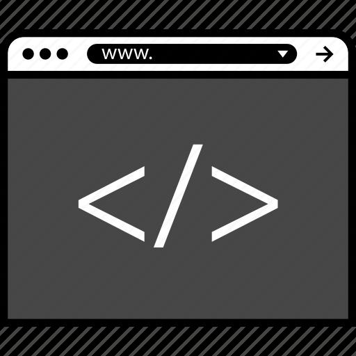 browser, code, development, online, web icon