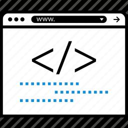 development, hacking, lines, ui, ux icon