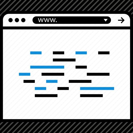 code, html, java, javascript, online, script icon