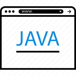 java, online, program, script, web icon