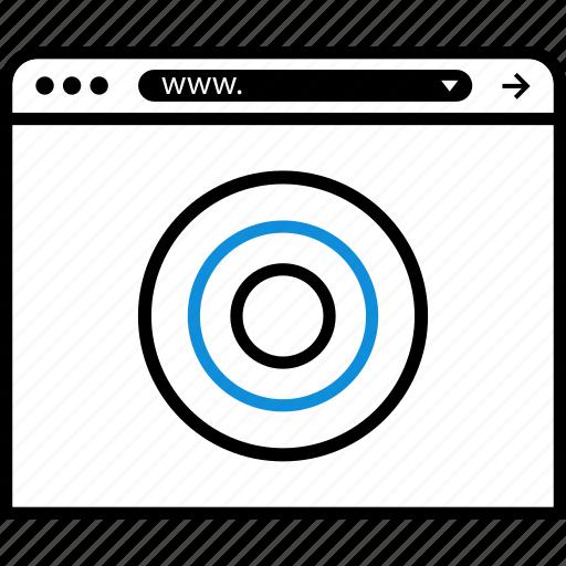 browser, eye, online, target, web icon