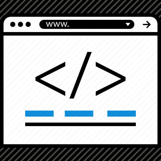 brackets, broswer, code, coding, web icon