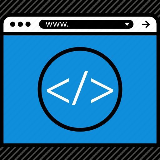 browser, code, development, hack, web icon