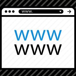 browser, chrome, internet, online, www icon