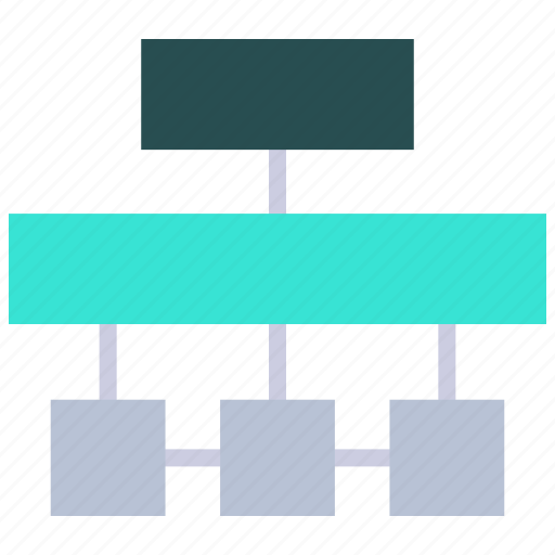 hierarchy, inheritance, leader, manager, networkweb development icon