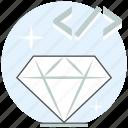 clean, code, development, good, smart, web, website icon