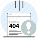 404, development, error, not found, page, web, website icon